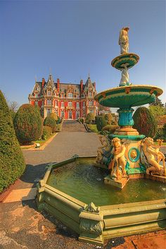 Fountain, Chateau Impney, England.