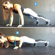 Squats  http://www.womenshealthmag.com/fitness/resistance-band-exercises-nikki-metzger?cid=soc_Women's+Health+-+Women's+Health+-+womenshealthmagazine_FBPAGE_Women's+Health__