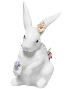 Lladro Collectible Figurine, Sitting Bunny with Flowers