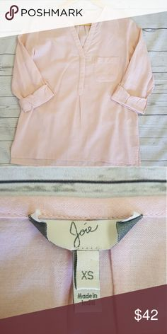 Joie blouse Joie blouse, 3/4 sleeve, V Neck Joie Tops Button Down Shirts