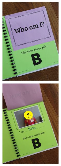 Name Activity Template for Class ABC Lift the Flap Book Make your own class lift-the-flap book! This is a great way to introduce letters and names at the beginning of the year.Kids LOVE a lift-the-flap book with familiar pictures. Portfolio Kindergarten, Kindergarten Names, Preschool Names, Kindergarten Literacy, Alphabet Activities, Early Literacy, Kindergarten Classroom, Classroom Activities, Homeschool