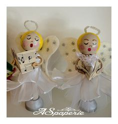 Clothespin Doll Christmas Angel by ASPaperie on Etsy, $35.00