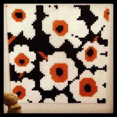 Floral perler bead art (design by Marimekko) by majoca