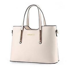 D Major Fashion Women Leather Shoulder Bags Handbag Purse Tote Lady Bag White