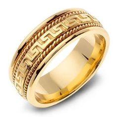 24 Best Wedding Ring Images On Pinterest Greek Key Greek Wedding