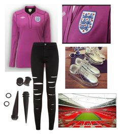 """""""watching England play tomorrow ~ leah x"""" by miss-coco-muffins ❤ liked on Polyvore featuring Anran"""