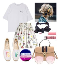 """Untitled #909"" by flet-irwin on Polyvore featuring Gucci, Le Specs, Soludos, Colette Malouf, Britney Spears and Charlotte Russe"
