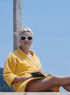 Catherine Deneuve in St. Tropez, 1968