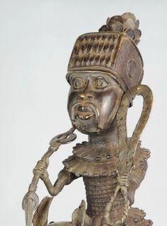 "Superbe Grand cavalier - Statue ""Bronze du Benin"" Horse rider figure - – Galerie de la Louve - Art Tribal Africain - African Tribal Art Gallery Statue En Bronze, Art Tribal, Rider, Art Premier, Art Africain, Buddha, Art Gallery, Lion Sculpture, Horses"