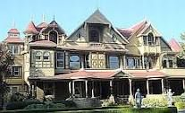 Winchester Mystery House 160 rooms including 40 bedroom and 6 kitchens 10,000 windows 2,000 doors 40 staircases   Located in San Jose, CA