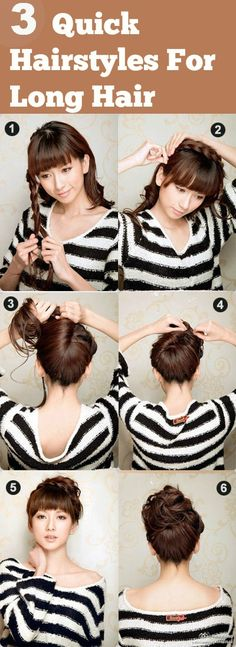 Love Long hairstyles with bangs? wanna give your hair a new look? Long hairstyles with bangs is a good choice for you. Here you will find some super sexy Long hairstyles with bangs, Find the best one for you, Daily Hairstyles, Hairstyles With Bangs, Trendy Hairstyles, Braided Hairstyles, Classic Hairstyles, Bangs Updo, Office Hairstyles, Beautiful Hairstyles, Natural Hairstyles