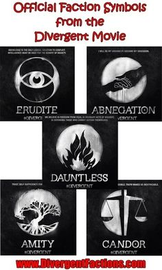 The faction symbols from the new Divergent movie!