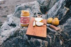 Fix and Fogg peanut butter with pear Peanut Butter Maker, Savarin, Natural Peanut Butter, Pear, Recipies, Dairy, Cheese, Dishes, Food