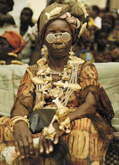 "West Africa | ""Queen Mother""  Ivory Coast 
