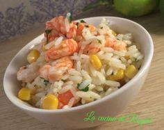 #Riso con gamberi, mais e limone# La cucina di Reginé