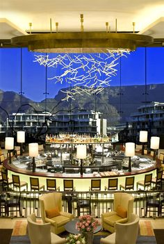 Cape Town One and Only, South Africa. #bar #lighting #light #lightingdesign #design