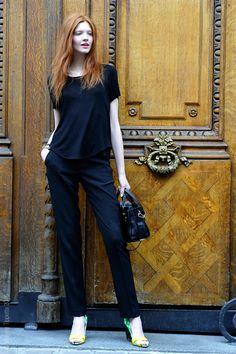 back to black. #AnastasiaIvanova #offduty in Paris.