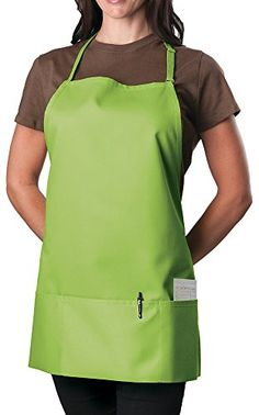 Lime Green Adjustable Bib Apron - 3 Pocket * See this great product.
