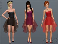 Sims 3 Finds - Mini dress with sheer skirt at BEO Creations