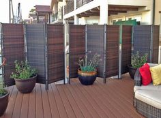Interested in small patio privacy ideas? A garden patio makes for a stunning and also receptive living area all the way through the summer months – or even into… Balcony Privacy Screen, Patio Privacy Screen, Privacy Screen Outdoor, Backyard Privacy, Privacy Screens, Balcony Curtains, Privacy Curtains, Garden Privacy, Privacy Landscaping