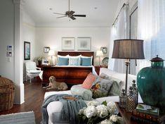 Coastal white slipcover chaise