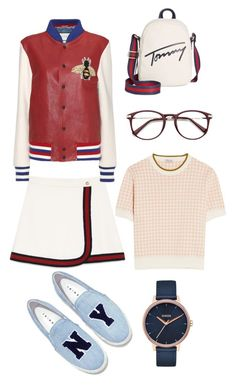 """Без названия #7"" by lidiya-yurtaeva on Polyvore featuring мода, Tommy Hilfiger, Gucci, Miu Miu, Joshua's и Nixon"