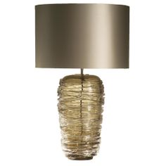 Glass Thread Lamp - Olive - Height 425mm