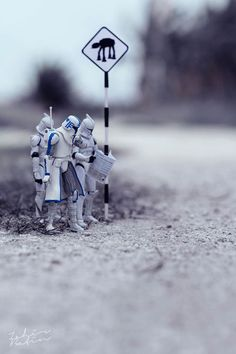 Les aventures quotidiennes des personnages de Star Wars en miniature
