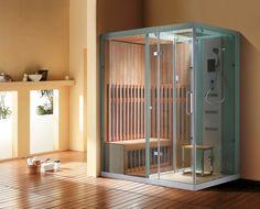 sauna kabine dampfdusche spa stil badezimmer trend 2014
