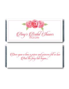 Floral Chocolate Bar Wrapper  Bridal Shower Candy Wrappers