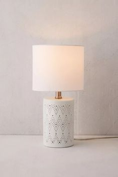 Chevron Ceramic Table Lamp | Urban Outfitters