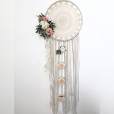 Large boho dream carcher white cascading by Iheartbinaandjess