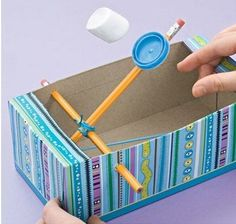Marshmallow Catapult ~ These would be so fun to create during force and motion lessons! Students can play this hands-on activity while learning about force and motion! Maybe students can see whose marshmallow goes farther. Educational Activities For Kids, Science Activities, Science Projects, Projects For Kids, Hands On Activities, Indoor Activities, Science Ideas, Science Experiments, Stem Projects