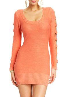 2B Cut-out Sweater Dress $39.95 #bestseller