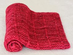 """The latest of the baby blanket called """"Sweet Valentine"""" due to this vibrant Raspberry Sorbet color you want literally munch on. This time I. Knitted Baby Blankets, Knitted Afghans, Baby Afghans, Knitting Projects, Crochet Projects, Knitting Ideas, Crochet Crafts, Yarn Crafts, Baby Design"""