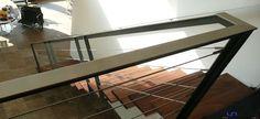Stalen trap rvs leuning houten treden design op maat