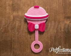 Items similar to 7 Baby Girl Props Baby Shower Props, Free Baby Shower Games, Baby Shower Photo Booth, Moldes Para Baby Shower, Tiffany Box, Felt Baby, Baby Rattle, Photo Booth Props, Girl Shower