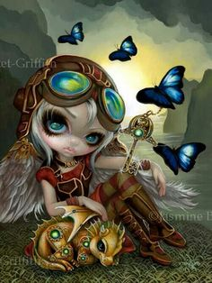 Clockwork Dragonling steampunk fairy dragon by Jasmine Becket-Griffith from DragonCon 2014 steampunk dragon angel clockwork mechanical wings Steampunk Kunst, Steampunk Fairy, Gothic Fairy, Fantasy Kunst, Fantasy Art, Elfen Tattoo, Animal Art Prints, Kobold, Fairy Pictures