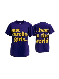 Purple East Carolina Girls Best In the World Tee