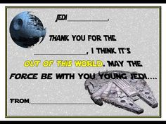Star Wars Printable Tutorial 3 - Star Wars fill in the blank thank you c...