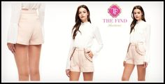 Fiona Ruffled Shorts in Pink