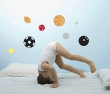 Love your Sport? Then your little man will love these unique and easy to move colourful wall decals  Details: 1 x sheet per pack Colours - Black, Orange, Red, Yellow and Silver   These wonderful removable wall decal from Forwalls are sure to delight any little man. It is so easy to transform that boring wall give a new look to your your little boy's room!