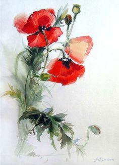 акварель тюльпаны - Поиск в Google