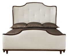360-H63-F63-R63 Miramont Upholstered Sleigh Bed   Bernhardt King W 83 D 89 H 70 $2767.50 Queen $2490.00 Tufted Assigned Fabric B401