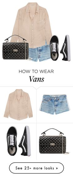 """Untitled #4420"" by ericacavaco12 on Polyvore featuring RE/DONE, Mes Demoiselles..., Valentino and Vans"