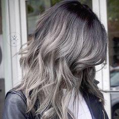 Resultado de imagem para gray ombre hair