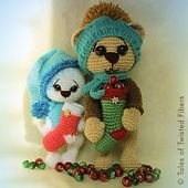 This amigurumi Holiday Bear has been designed in such a way that it can be out on display throughout the year, and not just on Christmas. Since it does not come in traditional Christmas themed colors, all you need to do is remove its hat and scarf and hide away its stocking and this teddy will be good for any season.