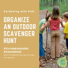 Looking for a way to get outside and have fun? How about a Garden Scavenger Hunt? Turn garden exploration into a game! You can even have prizes for those competitive family members. Outdoor Scavenger Hunts, Scavenger Hunt For Kids, Victory Garden, Get Outside, Easy Diy Projects, More Fun, Activities, How To Plan, Game