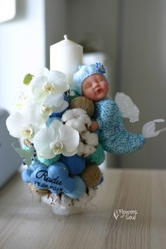 Anne Geddes, Bouquet, Candles, Sweet, Ornaments, Candy, Bouquet Of Flowers, Bouquets, Candle Sticks