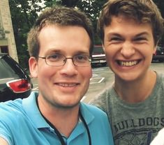 john green & ansel elgort…can't wait for the fault in our stars movie! ack!